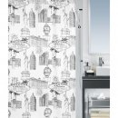 Vegas Duschvorhang Textil black and white 180x200 cm