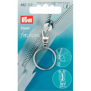 Fashion Zipper Ring silber