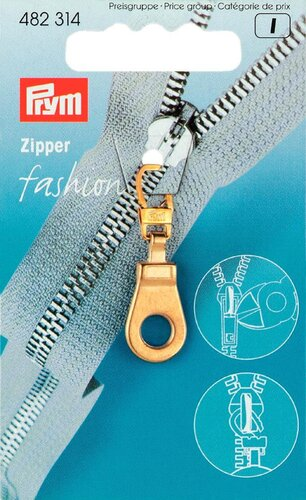 Fashion Zipper Öse gold