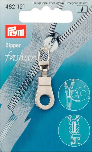 Fashion Zipper Öse silber