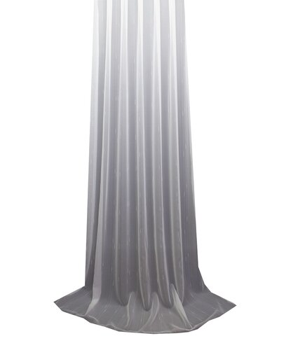 Tagesvorhang Voile Uni weiss 180 cm