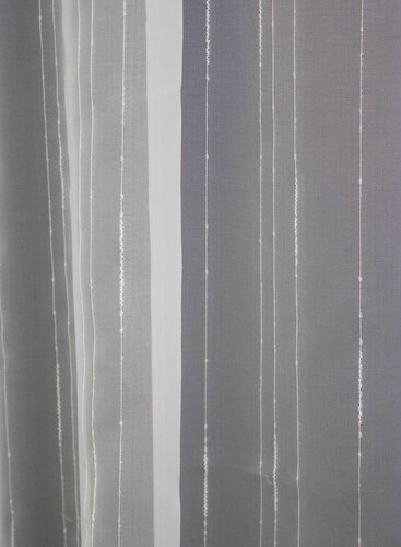 Tagesvorhang Voile weiss Uni 180 cm