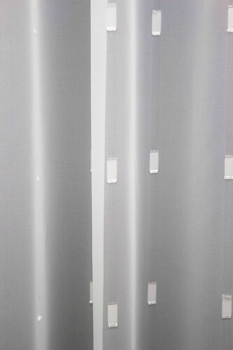 Tagesvorhang Voile Rectangles bestickt weiss 300 cm