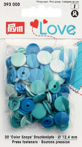 Prym Love Druckknopf Color Snaps 30-Set blau