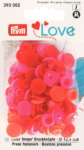 Prym Love Druckknopf Color Snaps 30-Set rot