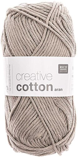 Rico Creative Cotton Aran 52 perlgrau