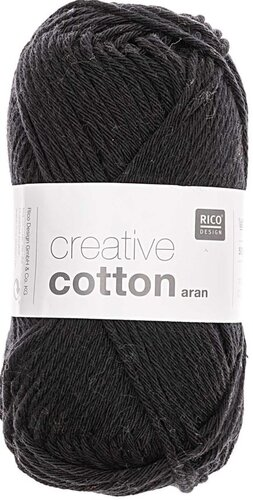 Rico Creative Cotton Aran 90 schwarz