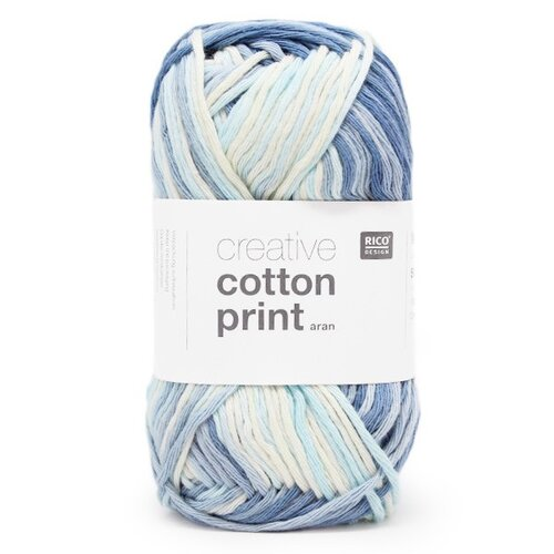 Rico Creative Cotton Print Aran 006 hellblau-denim