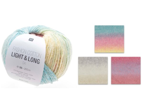 Rico Fashion Cotton Light & Long dk - diverse Farben